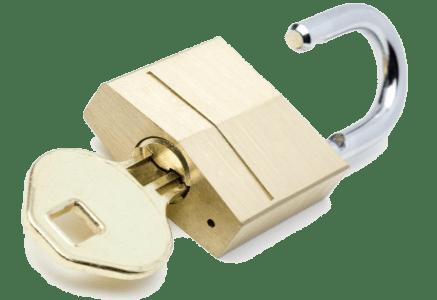 padlock with key-min